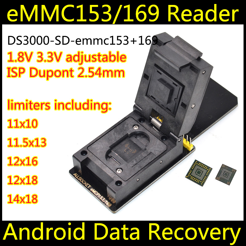 US $88 0  Data recovery android phone SD emmc153+169 tool Restore Recover  Contacts SMS Broken Damaged water damaged Dead-in Connectors from Lights &