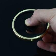 2017 Hot!!ทองรอบวงกลมอยู่ไม่สุขมือปั่นทองเหลืองนิ้วของเล่นEDCโฟกัสGyroสมาธิสั้นของขวัญ