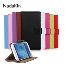 Leather Wallet Flip Book Case For Samsung