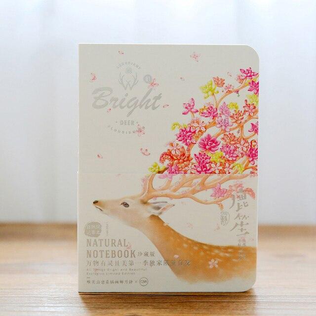 Art Beautiful Deer Notebook Blank Notepad Naked This Copybook Daily
