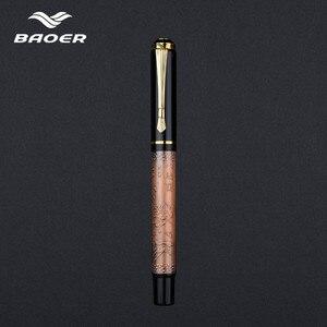 Image 3 - Baoer507 Ballpoint Pen Rollerball Pen Gift Caneta Gel Pen Luxury Gift Stationery Beautifully Embossed 0.5mm Black Pull Cover Pen