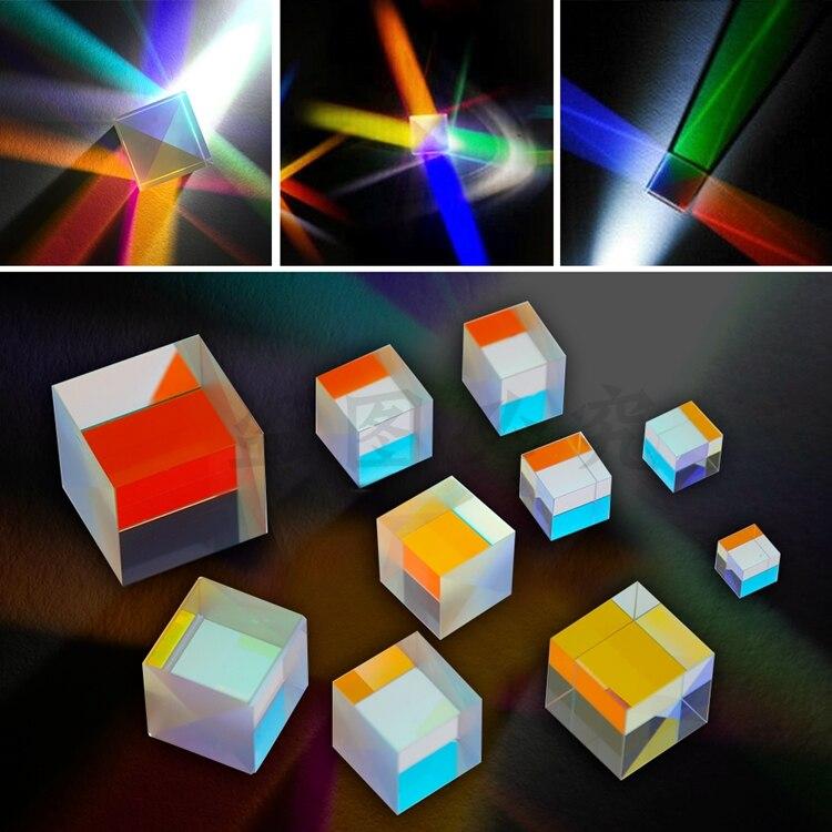 Color combination prism large combination six-sided polished black technology glass prism optical coated lens Щипцы