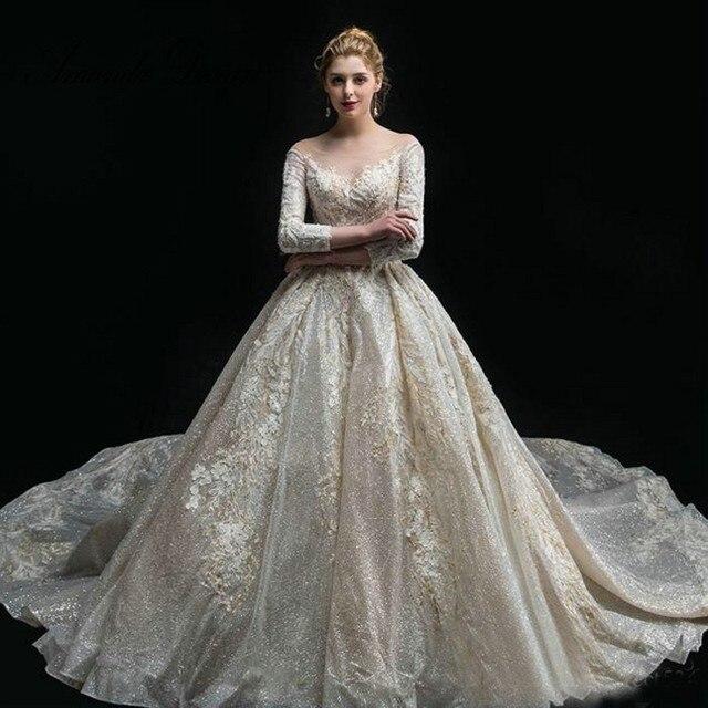Design Avondjurken.Amanda Design Avondjurken Gala Jurken O Neck Long Sleeve Lace