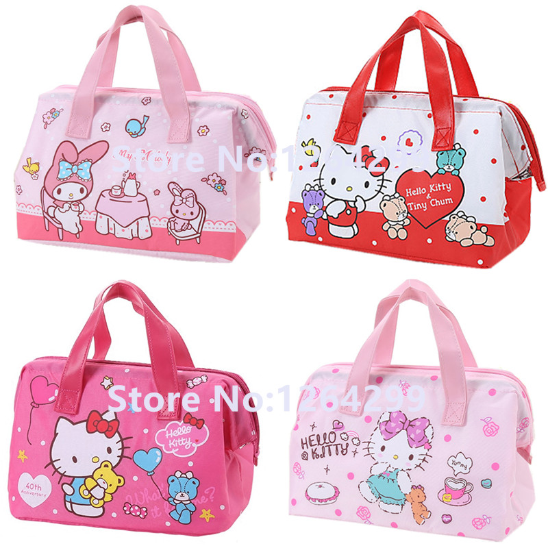 f6659910d New Fashion Hello Kitty My Melody Girls Woman Oxford Aluminum foil Theraml Lunch  Cooler Bags Kids Handbags for Children