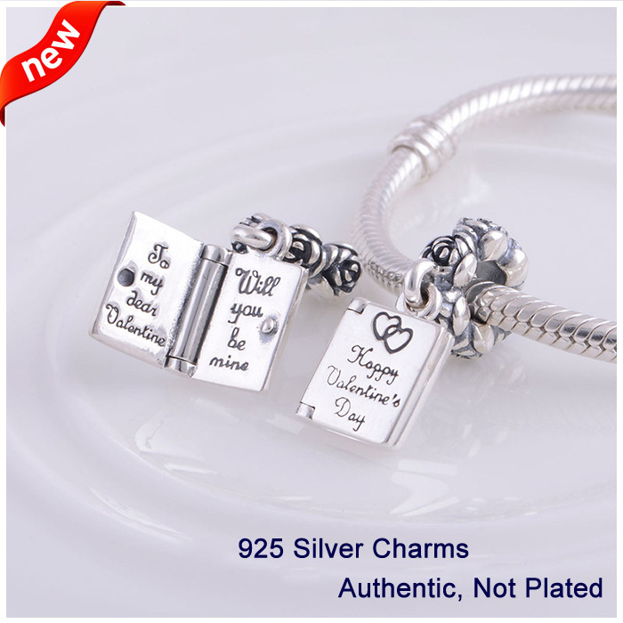 compatible with pandora jewelry bracelets 100 925 silver beads latest happy valentine day collection dangle charms ckk in beads from jewelry accessories - Pandora Valentine Bracelet