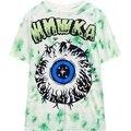 womens tie dye print t-shirt 2016 new short sleeve HARAJUKU big eyeball tee tops woman ladies street style tshirt white T Shirt