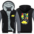 MOTO GP Rossi VR 46 The Doctor Men Hoodies Motorcycle Loose   Casual Thicken Fleece Zipper Jacket USA EU size Plus size
