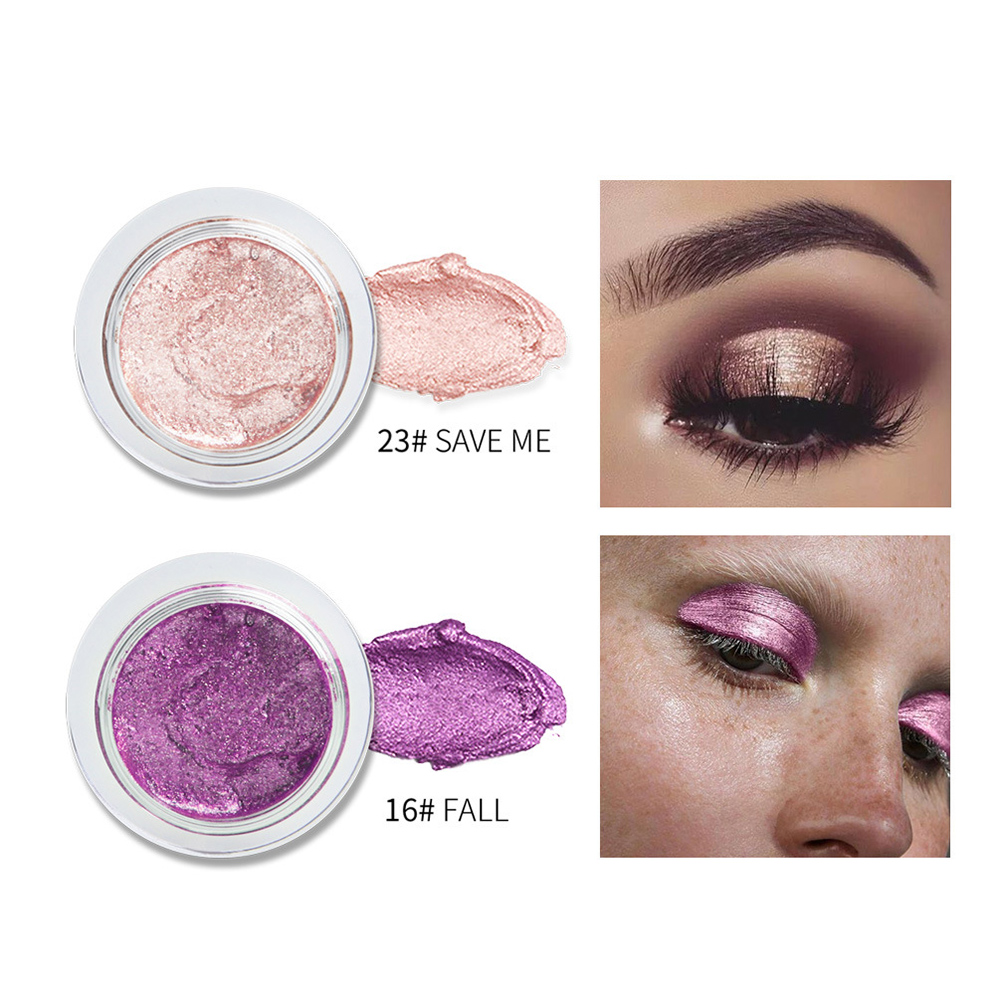 QIBEST 25 Color Jelly Eye Shadow Wet Gel Cream Sexy Monochrome Shimmer High Light Brightening Make Up Concealer  TSLM1