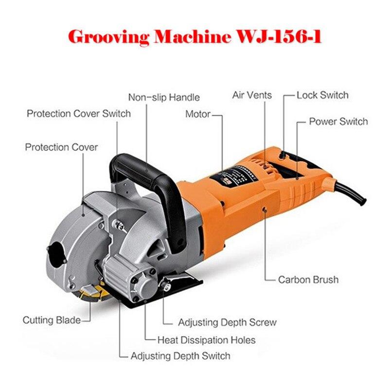5200 w WJ-156-1 Multifonction Mur Groove Machine De Découpe Mur Groove Machine Mur Chaser Machine Pour La Brique et De Granit Marbre