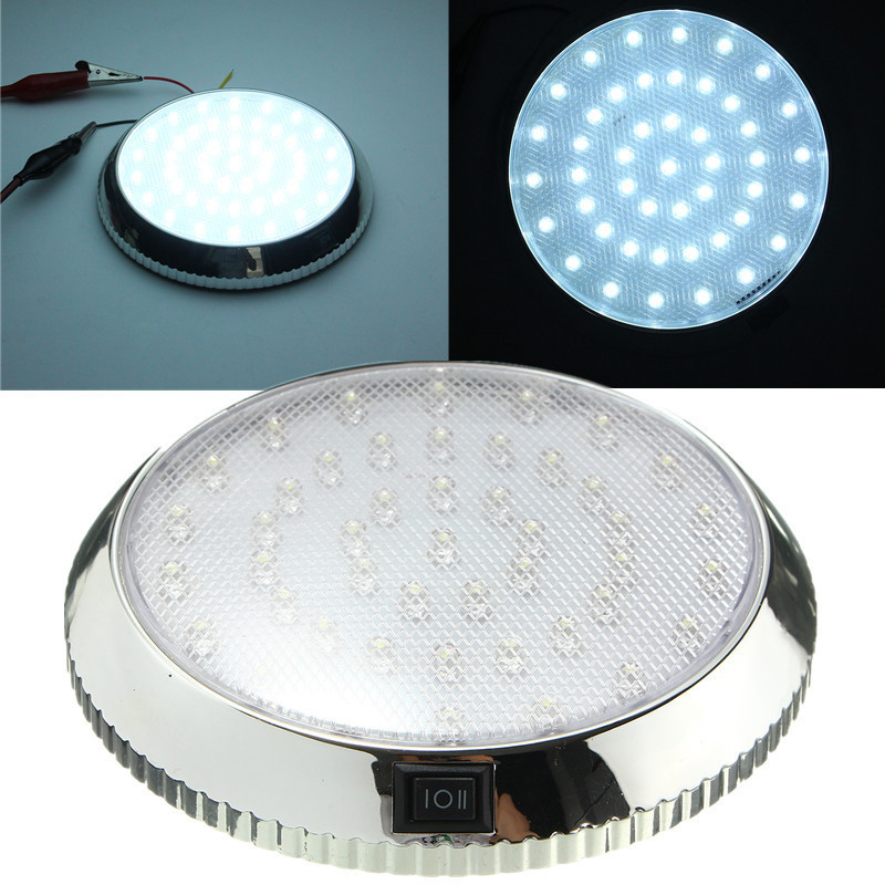 Super Bright 12V 46 LED Auto Car Vehicle Dome Roof Ceiling Interior Led Rooflight indoor Light Lamp White