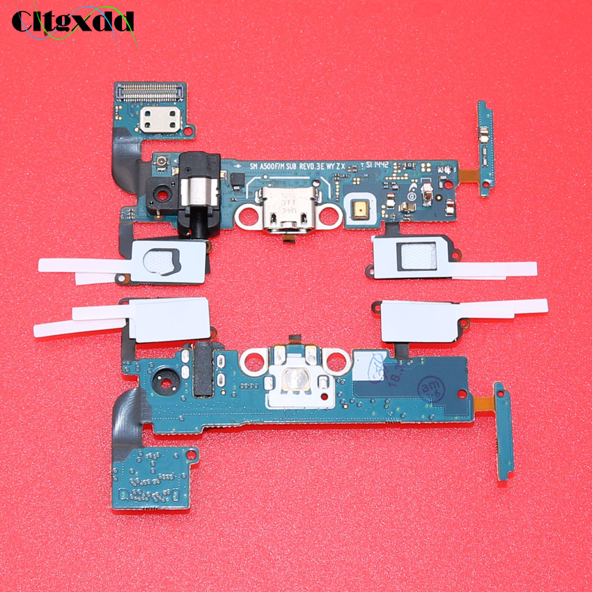 цена на cltgxdd For Samsung Galaxy A5 A500f SM-A500f Sensor Headphone Jack USB Dock Charger Charging Port Connector Flex Cable