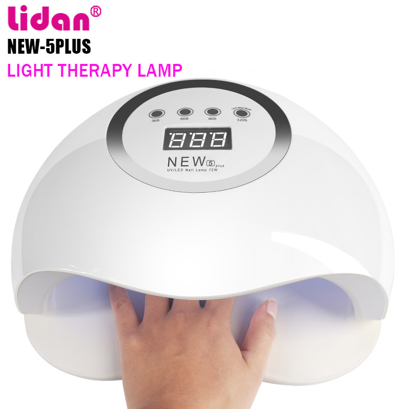 LIDAN NEW 5 Plus 72W Nail Dryer Manicure 36 UV Lamp LED Light Bead Four-speed Timing LED Display Solar Infrared Sensor FactoryLIDAN NEW 5 Plus 72W Nail Dryer Manicure 36 UV Lamp LED Light Bead Four-speed Timing LED Display Solar Infrared Sensor Factory
