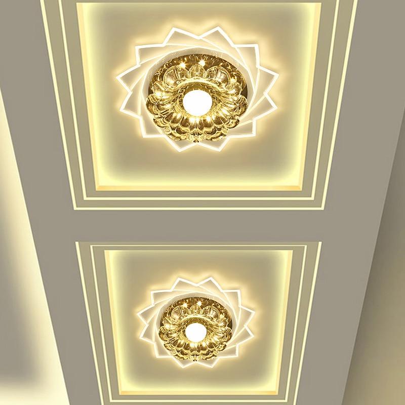 Modern Corridor Mirror Ceiling Lamp Aisle Lighting Down Crystal LED Ceiling Lights For Living Room Bedroom AC90~260v WCL035 crystal led ceiling lights aisle lights corridor entrance hall lamp ceiling living room lamp lighting led ceiling lights 85 265v