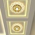 Moderno Espelho Do Teto Do Corredor Luzes Do Corredor Da Lâmpada de Iluminação Para Baixo LED De Cristal Do Teto Para Sala de estar Quarto AC90 ~ 260 v WCL035