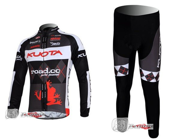 3D Silicone!!! 2011 Kuota long sleeve cycling clothes bicycle bike riding long jerseys+pants sets