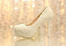 2016 Handmade High Heel Dress Shoes Bridal Wedding Dress Shoes  Beautiful Platform Evening Dress Shoes Anniversary Party Shoes