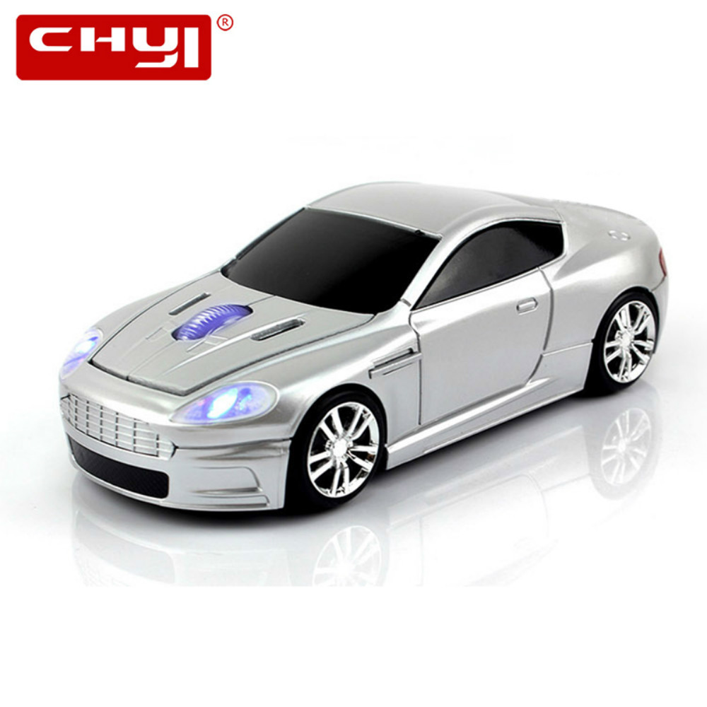 CHYI Wireless Mouse Sports Car Mouse Gaming 2.4Ghz Optical Mouse Car Mause for PC Laptop Computer Gamer Mice with USB Receiver car style 2 4ghz wireless 1200dpi optical mouse w receiver silver black 2 x aaa