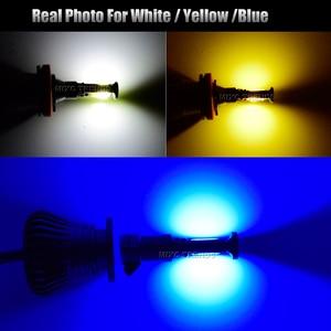 Image 5 - 2Pcs 스트로브 LED 자동차 안개 램프 12V H1 H11 H8 H7 H3 9005 9006 HB3 HB4 880 881 플래시 COB LED 안개 전구 흰색 노란색 파란색