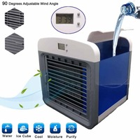 Convenient Air Cooler Fan Portable Digital Air Conditioner Humidifier Space Easy Cool Purifies Air Cooling Fan for Home Office Fans