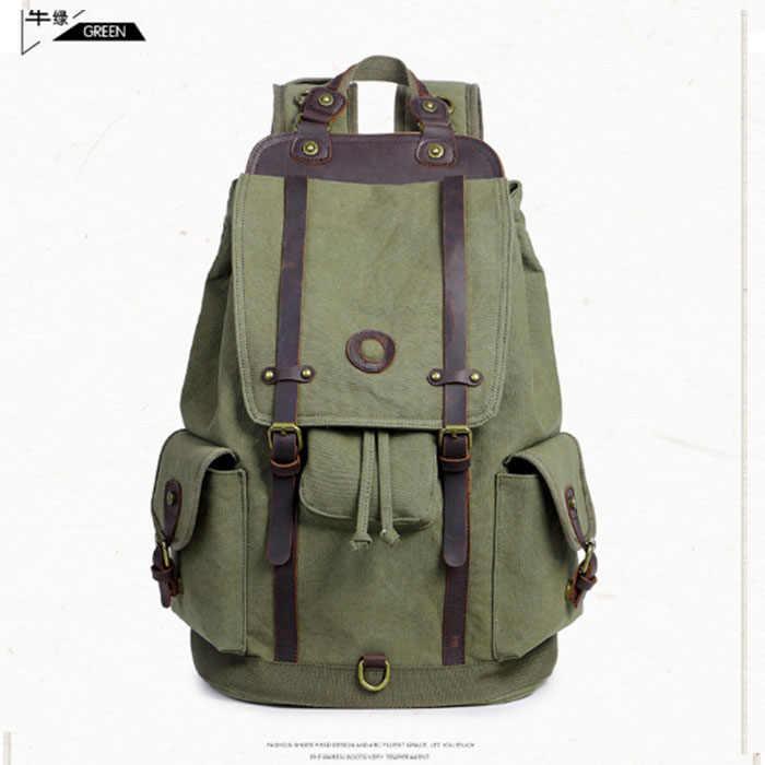 Ретро Для мужчин Мужская парусиновая Колледж школьника-рюкзак Повседневное рюкзаки дорожная сумка для ноутбука сумки женские сумки хаки/armygreen/ черный