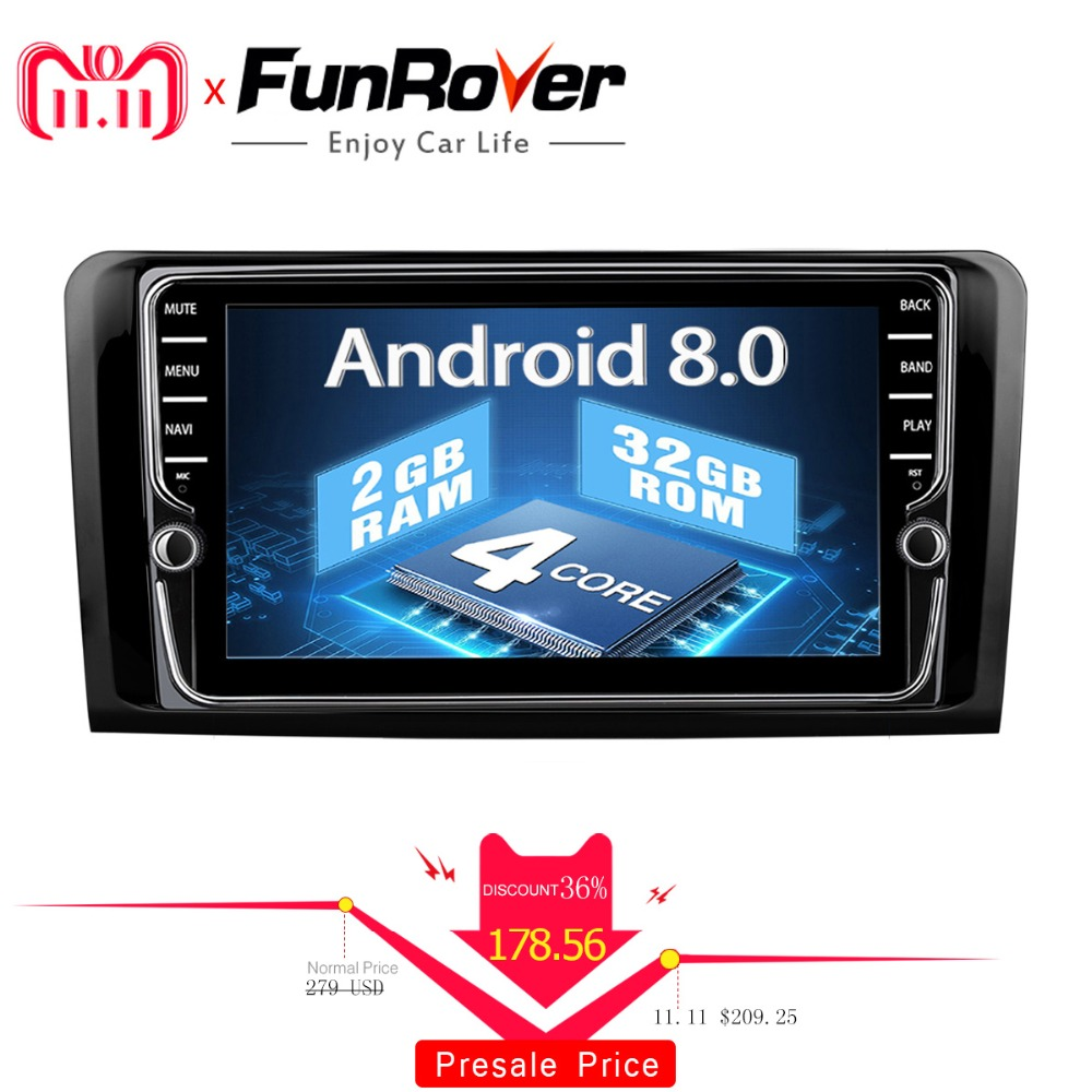 Funrover IPS 2din Car dvd Multimedia Player For Mercedes Benz W164 W300 ML350 ML450 ML500 GL X164 G320 GL350 GL450 Car Radio gps цена