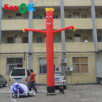 16.4ft Tall Mini Red Air Dancer Inflatable Sky Dancer Tube Puppet Set with Air Blower