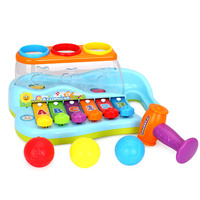 Baby Toys Learning Machine Toy With Lights & Music & Learning Stories Toy Musical Instrument With 3 Colored Balls And A Hammer
