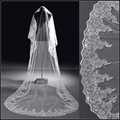 Luxury Long Wedding Veils Lace Sequined 2015 Cathedral Bridal Veils 3 Meters Fashion Wedding Accessories Veu De Noiva Headwear