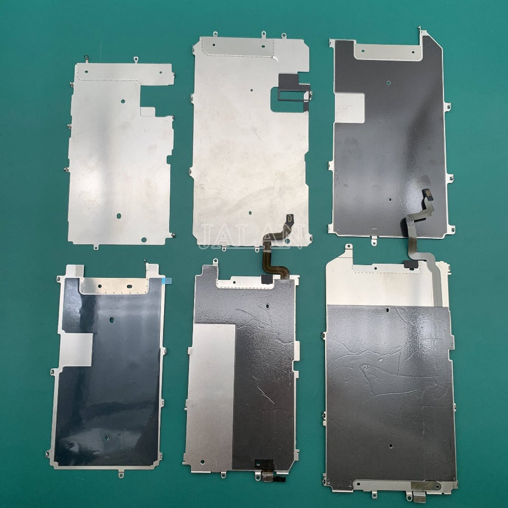 2pcs For IPhone 6/6 plus/6S/6S plus/7/7plus LCD Screen Back Metal Plate Shield with Home Button Expand replacement repair image