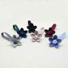 Girls Flower Elastic Hair Band Ties High Rope Rubber  Sweet Scrunchies Ponytail Holder Accessories