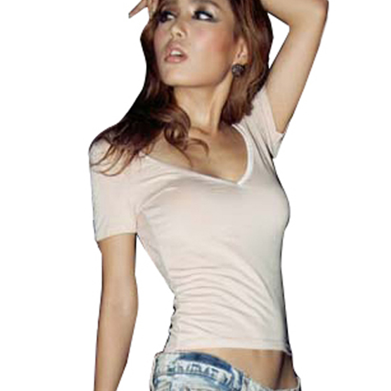 Buy Women Low V Neck Tee Sexy Backless