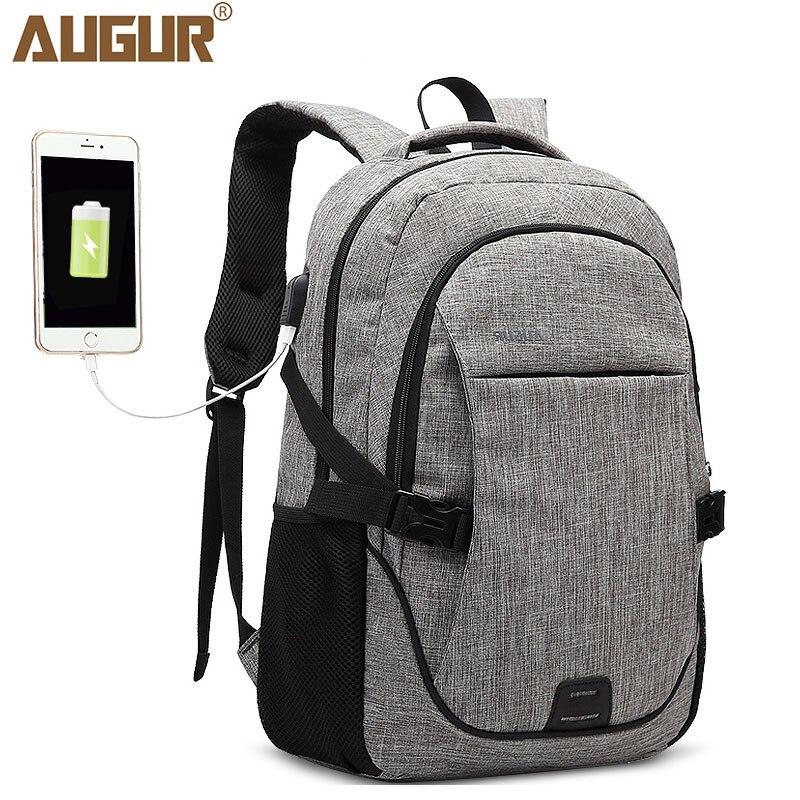 AUGUR USB Charge Backpack Male Mochila Laptop Backpack Men Women Travel School Bags Daypack Teenager Rucksack Mochilas Mujer