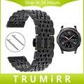 22mm correa de acero inoxidable + pernos de liberación rápida para samsung gear s3 clásica correa de reloj pulsera brazalete de eslabones de la frontera