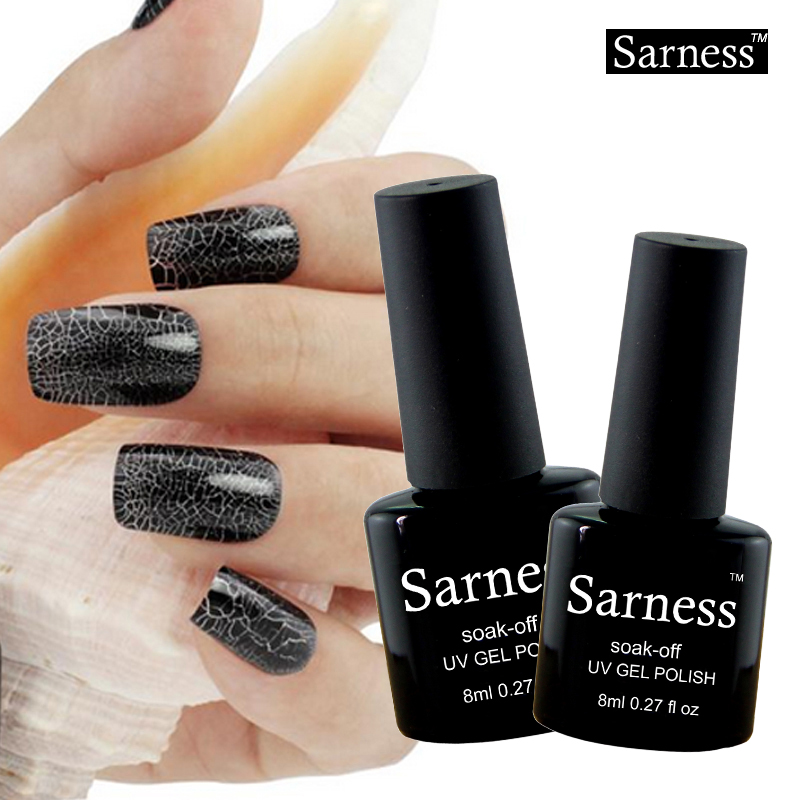 sarness brand lucky Colorful Soak Off Crackle Gel Nails Lacquer ...