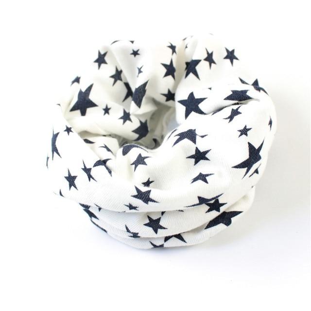 Stars Print Ring Scarves for children Warmer Scarf Autumn Winter Kids Boys Girls Neckerchief Collar Hat Mask 4