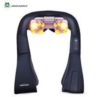 U-form Elektrische Shiatsu Nacken Schulter Körper Massager 4D Kneten Massage EU/Flachstecker Auto Nach Hause Dual verwenden