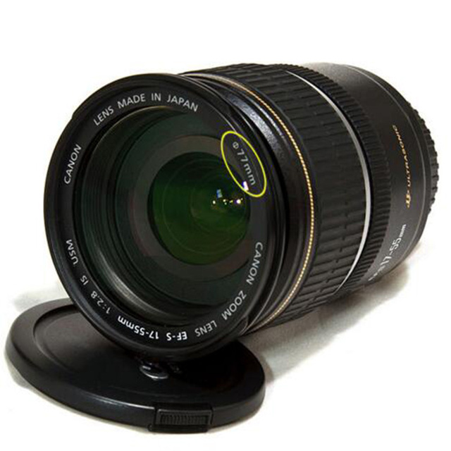 Foleto Lens Cap Cover Snap On Center Pinch Lens Protective 49 52 55 58 62 67 72 77 82mm for Canon Nikon Sony a Pentax 60D 500D 2