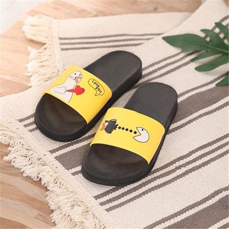 PKSAQ Slippers Women Summer Sandals Slipper Indoor Outdoor Flip-flops Beach Shoes Female Fashion Cute Cartoon Couple Shoes