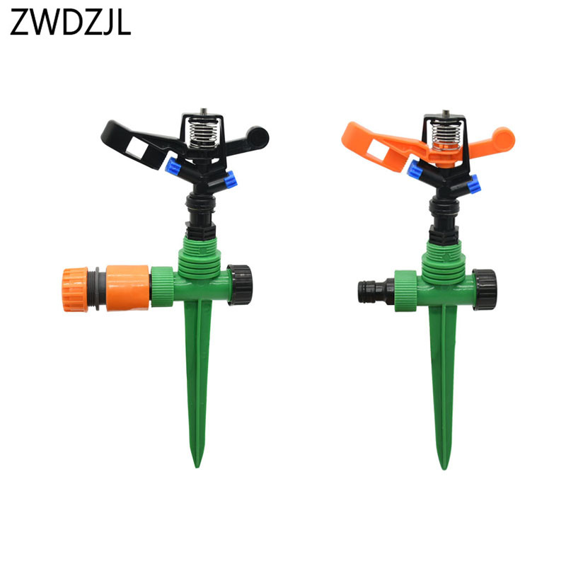 Garden Lawn Sprinkler Rotate Watering Sprinklers Water Sprinkler Rocker Nozzle 360-degree Watering & Irrigation 8set