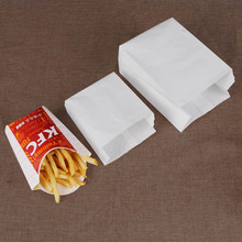 20 Pcs white Kraft Paper bag Oil proof French Fries Fried chicken Bread Hamburger Burrito Paper Bags Takeout food bags outdoor travel dissolving paper soaps white 20 pcs