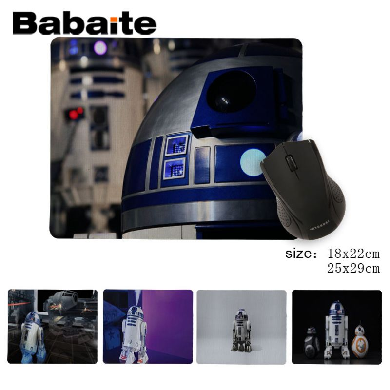 Babaite Personalized Cool Fashion StarWars R2D2 Beautiful Anime Mouse Mat DIY Design Pattern Game No Lockedge mousepad image
