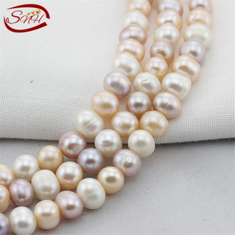 SNH 5 strands/package nice ,mixed color potato shape pearl strand wholesale