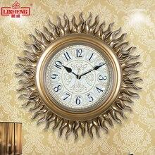 Tuda 18 дюйм(ов) солнцезащитные смолы настенные часы новый классический стиль часы немой кварцевые часы домашний декор Подвесные часы Бесплатная доставка