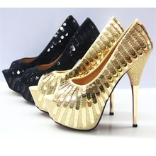 2019 summer and autumn new fish mouth pumps high heel sequins female sandals sexy water platform wedding shoes women sexy sequins and platform design sandals for women
