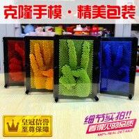 Plástico brinquedo engraçado jogo clone forma pin Pinart 3D art Shoumo variedade colorida criança agulha obter rosto palma modelo 1 pc frete grátis