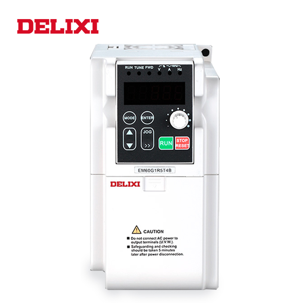 Image 4 - DELIXI AC 220V 0.4KW/0.75KW/1.5KW/2.2KW single phase VFD inverter drives for motor Speed Control 50/60HZ DC frequency converter-in Inverters & Converters from Home Improvement