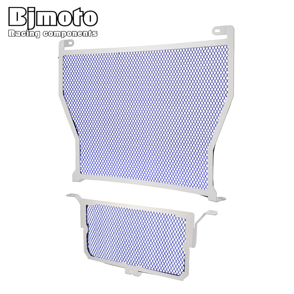 BJMOTO Stainless Steel Motorcycle Radiator Grille Guard Protector Cover For BMW S1000R 14-15 S1000RR 10-16 HP4 12-14 S1000XR car front bumper mesh grille around trim racing grills 2013 2016 for ford ecosport quality stainless steel
