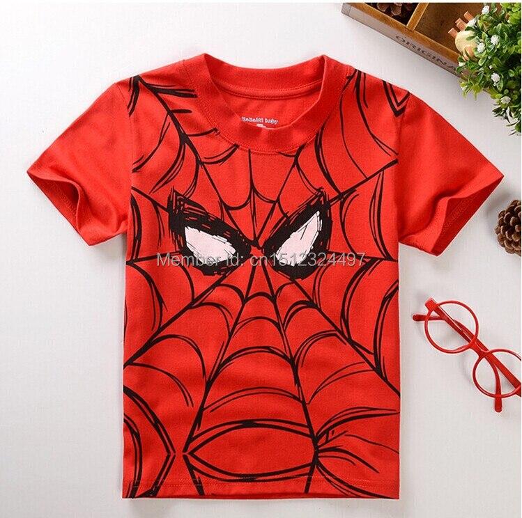 New children t shirts, Popular Hero Print Kids Baby Boy Tops Short Sleeve T-Shirt Summer Tee free shipping