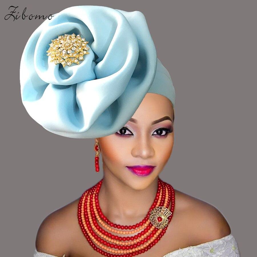 Turban headtie african turban cap aso oke gele ready to wear auto hele african lace auto gele aso ebi headtie 2018 new (2)