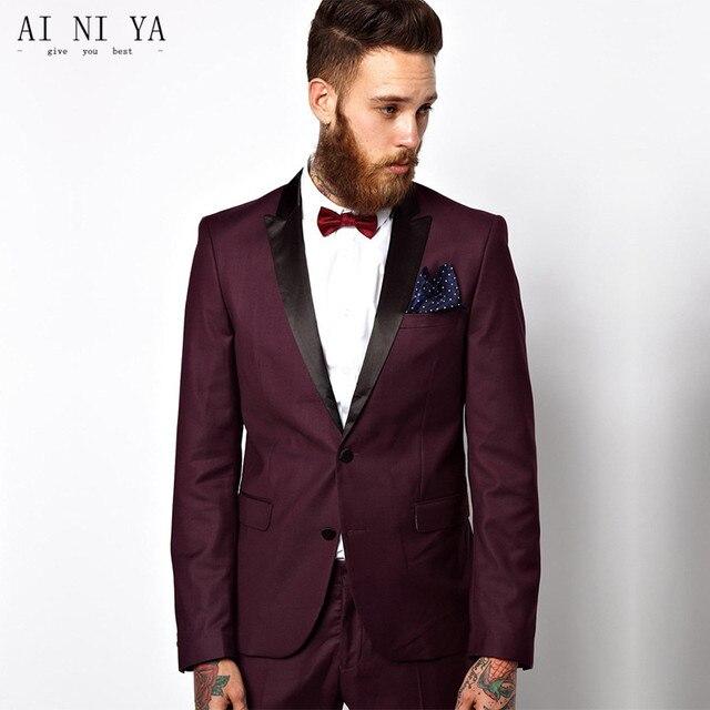 Fashionable men\'s suits 2017 Men Wedding Suits 2 Piece Jacket+Pants ...
